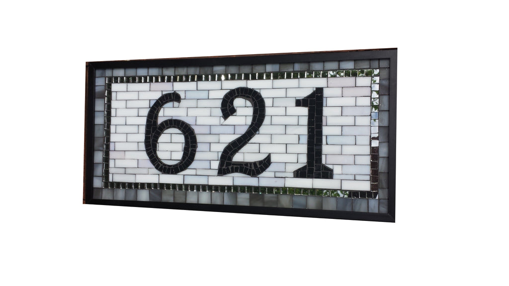 Custom House Number Plaque 3 Digits