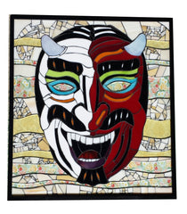 Ben Cooper Devil Mask in Stained Glass Mosaic