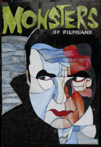 Bela Lugosi Monsters Magazine Cover in Art Glass Mosaic