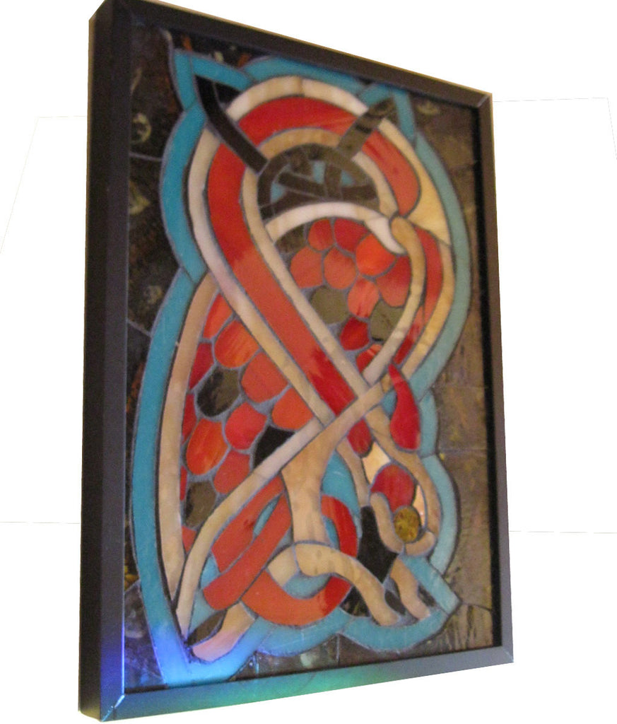 Celtic Bird Art Glass Mosaic