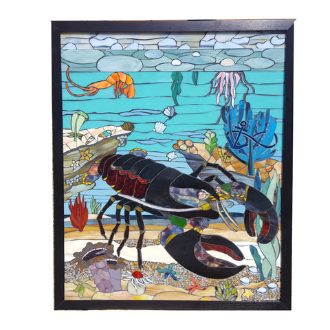 Image of: Murals Custom Animal Mosaic In Stained Glass Sequential Glass Art Mosaic Animals Sequential Glass Art Mosaics