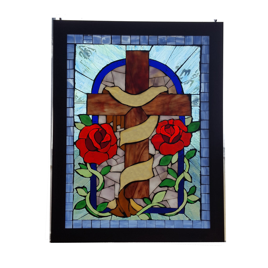 Memorial Cross Custom Mosaic