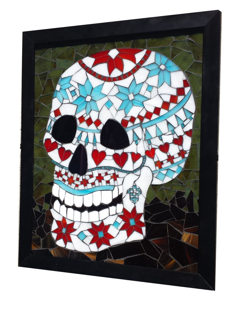 Stained Glass Mosaic Nordic Sweater Sugar Skull