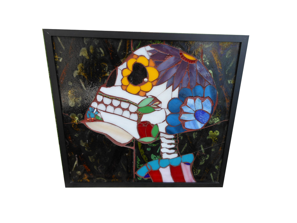 Custom Dia de Los Muertos Stained Glass Mosaic