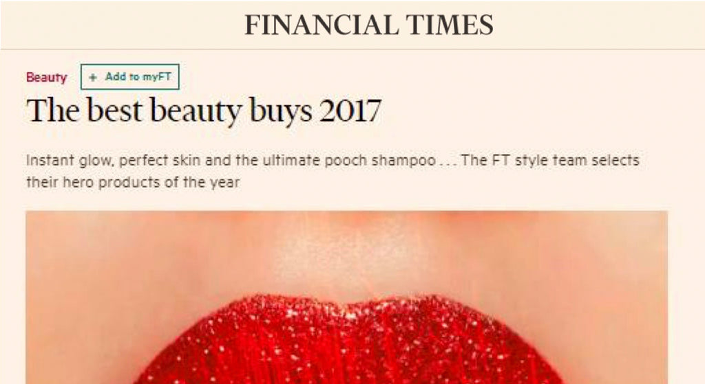 FINANCIAL TIMES: THE BEST BEAUTY BUYS 2017
