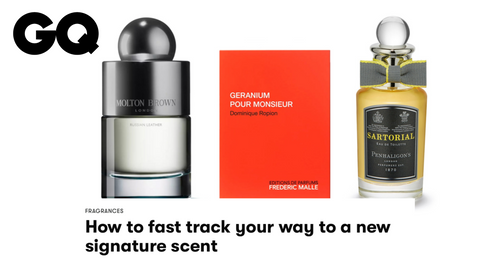 GQ: HOW TO FAST TRACK YOUR WAY TO A NEW SIGNATURE SCENT