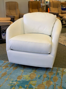 Gordon Leather Swivel Glider Chair