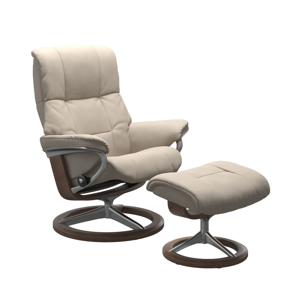 Stressless Mayfair Large Recliner and Ottoman with Signature Base