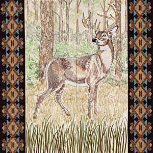 OESD White-Tailed Buck Tiling Scene 12570CD