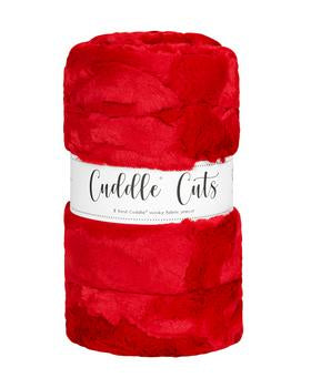 2 Yard Luxe Cuddle Cut Hide Cardinal