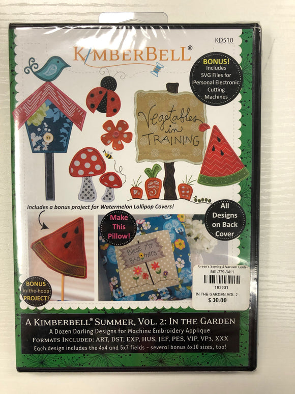 Kimberbell A Kimberbell Summer, Vol. 2:  In The Garden (DISCONTINUED)