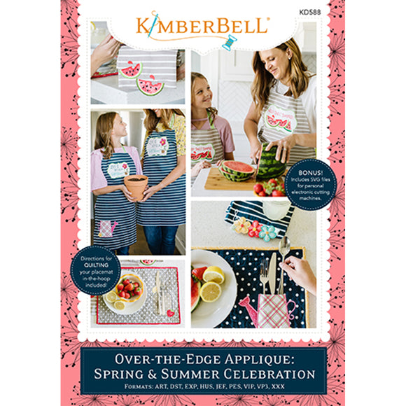 Kimberbell Over-the-Edge Applique: Spring & Summer Celebration Machine Embroidery CD