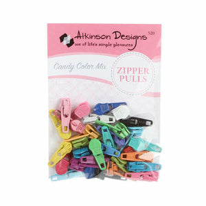 Atkinson Designs Zipper Pulls Candy Color Mix Assorted