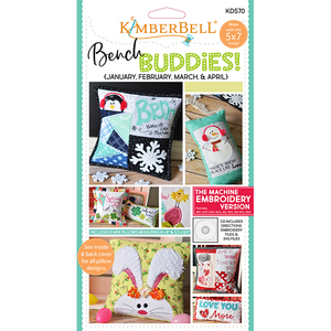 "Kimberbell ""Bench Buddies"" Series (January-April) Machine Embroidery CD"