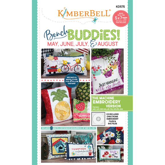 "Kimberbell ""Bench Buddies"" Series (May-August) Machine Embroidery CD KD575"