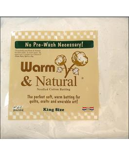 Warn & Natural Cotton Batting King Size 120in x 124in