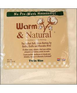 Warn & Natural Cotton Batting Twin Size 72in x 90in