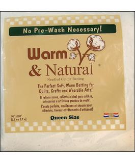 Warn & Natural Cotton Batting Queen Size 90in x 108in
