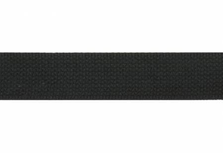 Cotton Webbing 1.5 inch by the yard Black