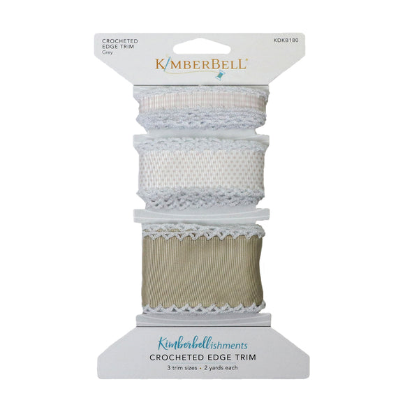 Kimberbell Crocheted Edge Trim (Grey)