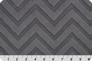 Shannon Embossed Chevron Cuddle Charcoal