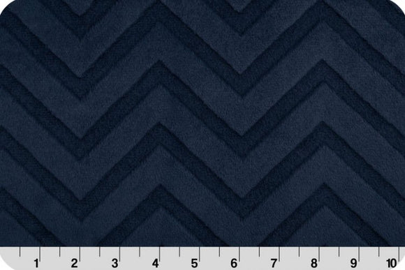 Shannon Embossed Chevron Cuddle Navy