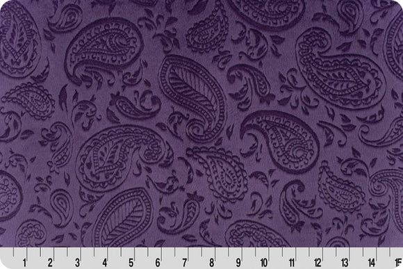 Shannon Embossed Paisley Vine Cuddle Violet