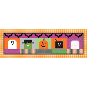 Riley Blake Halloween Blockheads Table Runner Kit