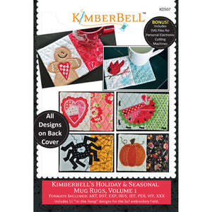 Kimberbell Holiday & Seasonal Mug Rugs Vol 1 Machine Embroidery CD