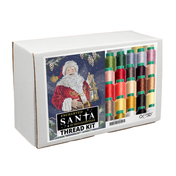 OESD Enchanted Santa Tiling Scene Thread Kit