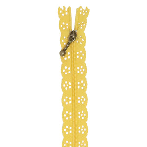 Kimberbell Lace Zipper (Canary Yellow) 14 inch