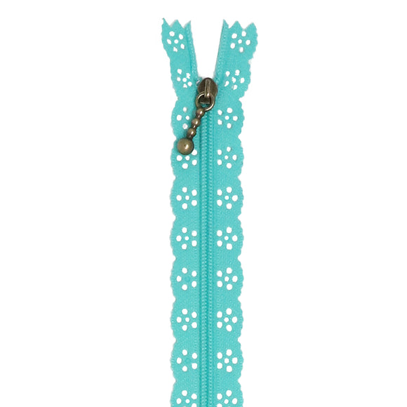 Kimberbell Lace Zipper (Robin's Egg Blue)