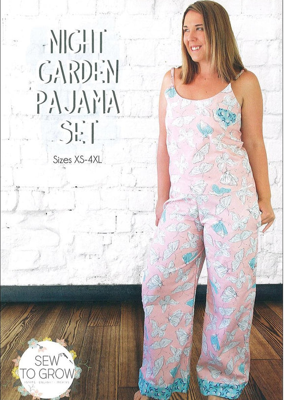 Night Garden Pajama Set by Sew to Grow