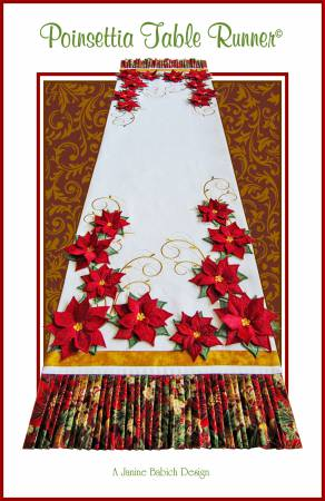 Poinsettia Table Runner by Janine Babich Designs