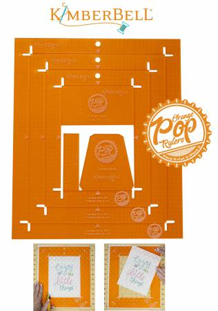 Kimberbell Orange Pop Rulers, Rectangle Set