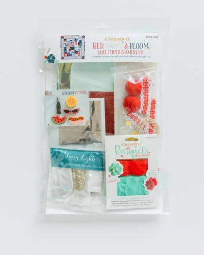 Kimberbell Red, White & Bloom-Embellishment Kit