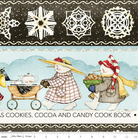 Snow Sweet Folk Parade Border Stripe