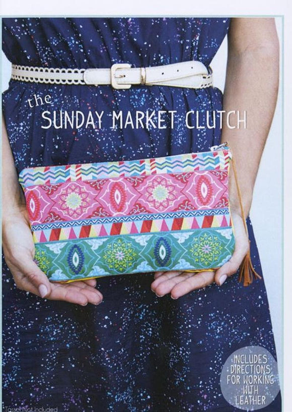 The Sunday Market Clutch by Sew To Grow