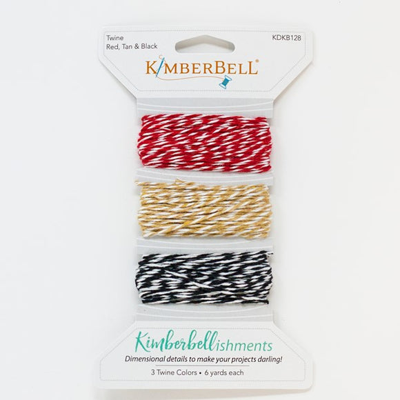 Kimberbell Twine Card, Red, Tan & Black