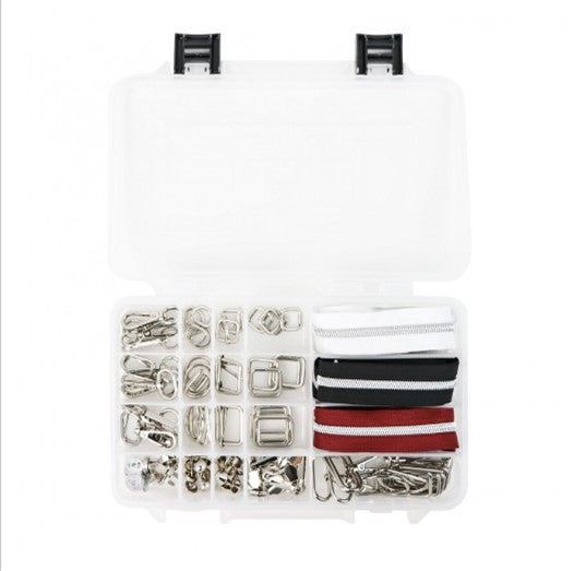 Ultimate Box Bundle of Hardware & Zippers Nickel by Sallie Tomato