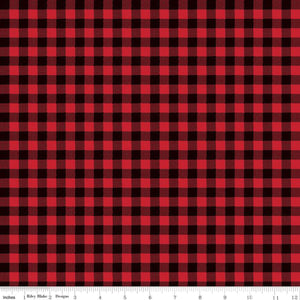 Wild at Heart Buffalo Plaid Red