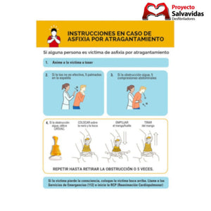 Dispositivo anti atragantamiento LIFEVAC Soporte y cartel