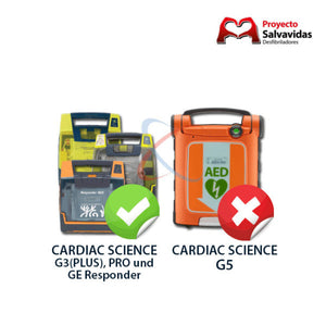 Parche electrodo ORIGINAL adulto Cardiac Science G3 /Responder AED