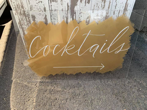 Acrylic Cocktails Sign