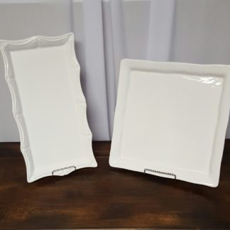 Assorted White Serving Plates