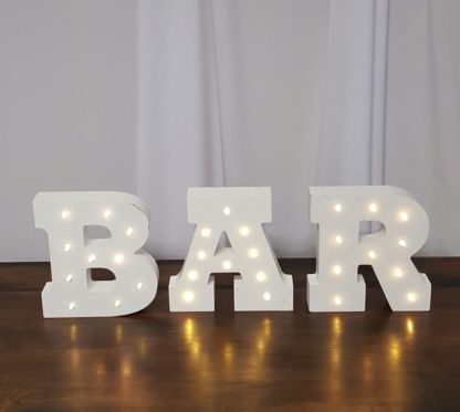 BAR Lighted Sign