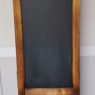 Brown Freestanding Chalkboard