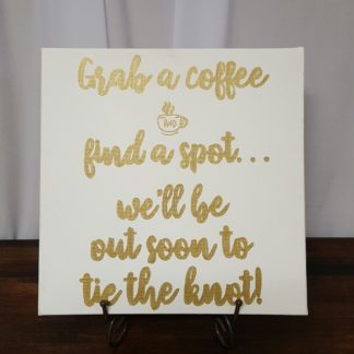 Coffee before Ceremony Sign