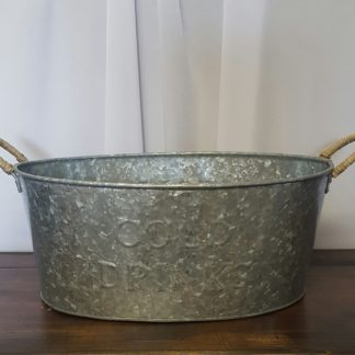 Galvanized Oval Drink Bucket