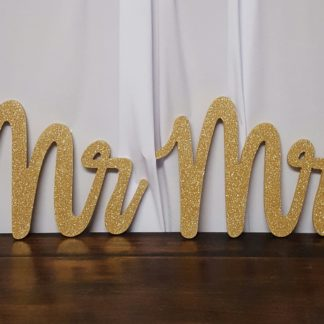 Gold Mr and Mrs Signs